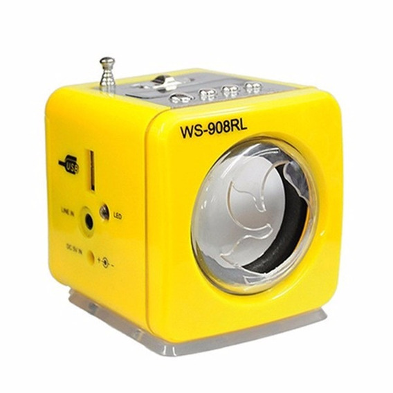Caixa Som Portatil ( 6w)(amarelo)(fm/sd/usb)(grasep)cx0032yg