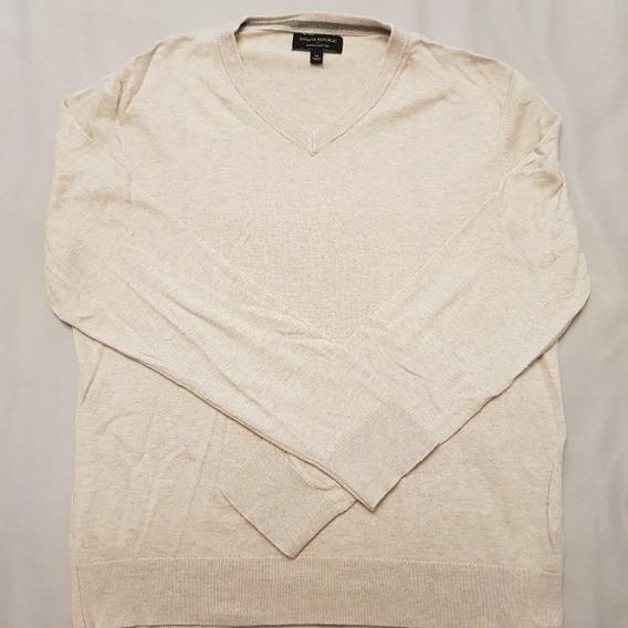 Sweater De Hilo Liso Beige Banana Republic Talle M