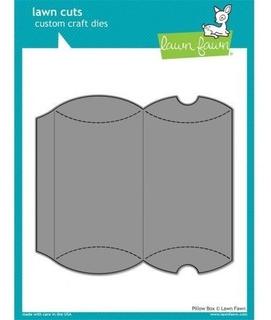 Suaje Corte Troquel Lawn Fawn Pillow Box Caja Almohada Scrap