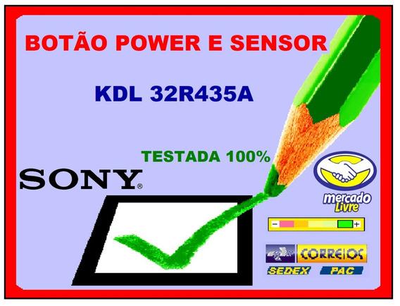 Botão Power E Sensor Sony Kdl32r435a