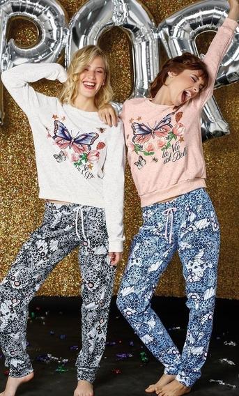 Pijama Invierno So Pink Art.11404 Talles S-m-l-xl Estampado