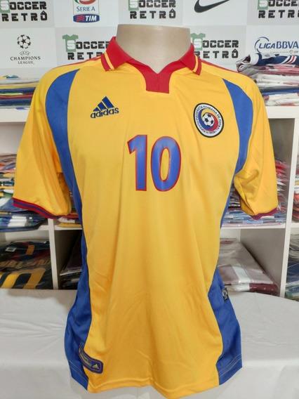 Camisa Romenia Euro 2000 Hagi 10 À Pronta Entrega