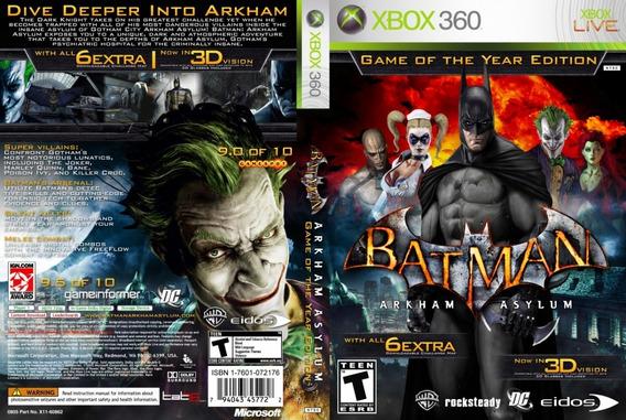 Batman Arkham Asylum -xbox 360- Mídia Digital