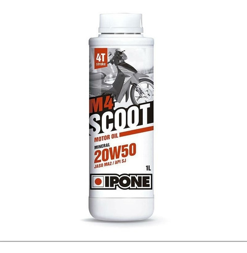 Aceite Mineral Scooters Ipone M4 Scoot 4t 20w50 Devotobikes
