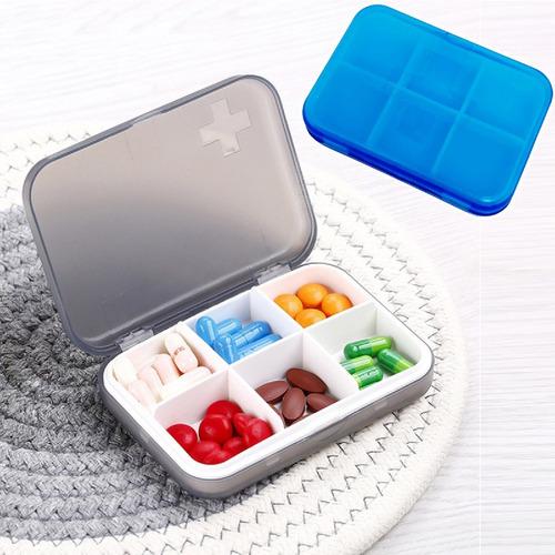 2 Caixa Porta Comprimido Organizador Semanal 6x Dia Remédio