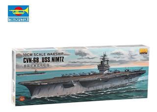 Buque De Guerra Escala 30cm Cvn-68 Uss Nimtz Montar Equipo J