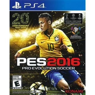 Pes 2016 Ps4 Juego Original Fisico Blu Ray Sellado En Stock