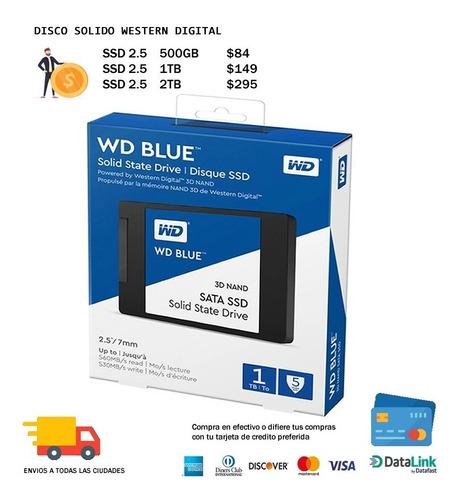 Imagen 1 de 1 de Disco Solido Western Digital Blue 1tb Wd 2tb Wd