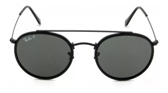 Oculos De Sol Ray Ban Round Double Bridge Rb3647 Preto