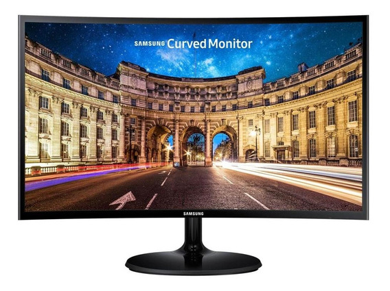 Monitor Samsung Led 24 Pol Widescreen Curvo, Full Hd, Hdmi/vga, Freesync - Lc24f390fhlmzd
