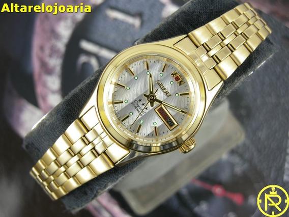 Relógio Feminino Orient Automático Clássico Fnq0400fw9