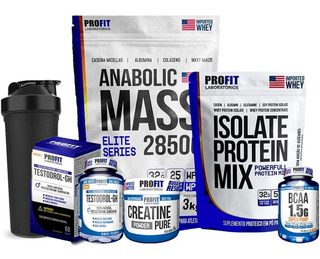 Hipercalórico + Protein Mix + Bcaa + Creatina + Testodrol Gh