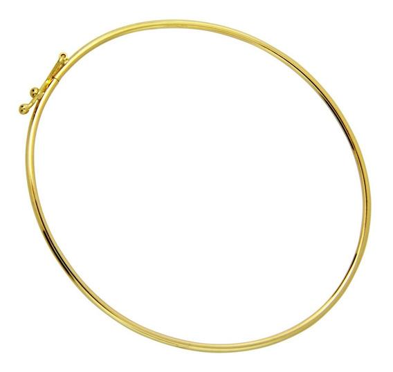 Monreale Bracelete De Ouro 18k Com Trava De Segurança