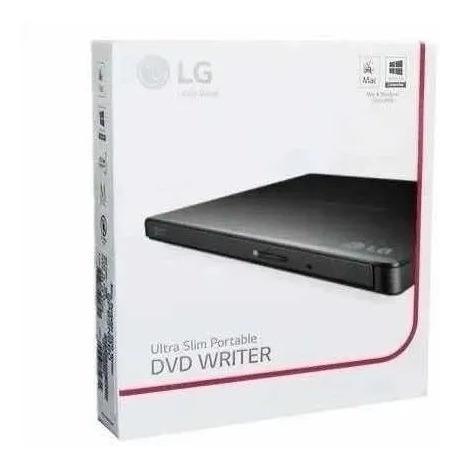 Imagem 1 de 1 de Leitor E Gravador De Cd E Dvd Externo LG