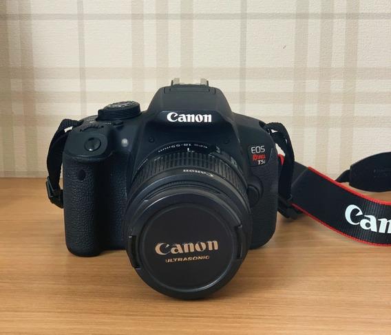 Câmera Canon T5i + Lente 18-55mm + Bolsa + Sd 8gb + Carregad