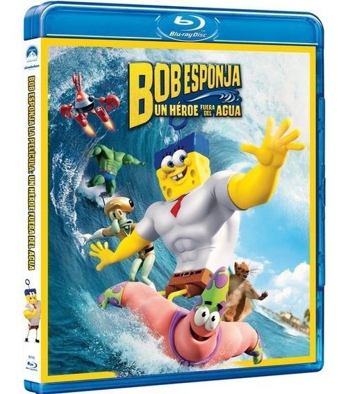 Bob Esponja Un Heroe Fuera Del Agua Pelicula Bluray + Dvd