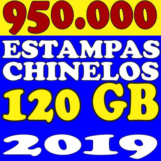 100.000 Pares De Estampas Chinelos Canecas Camisas F. Grátis