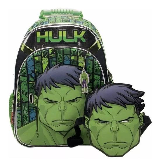 Mochila Hulk Avengers Con Mascara Espalda 16 Pulgadas Sp160
