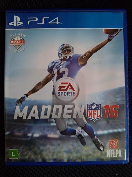 Jogo Playstation 4 - Nfl Madden 16 - Mídia Física Original