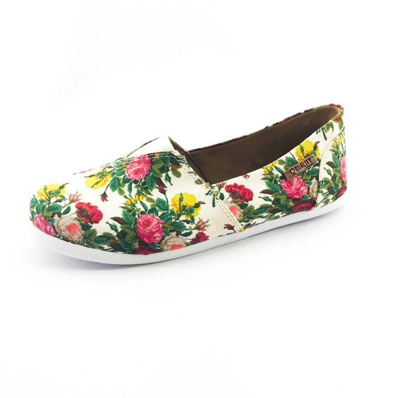 Alpargata Quality Shoes Feminina 001 Floral 209