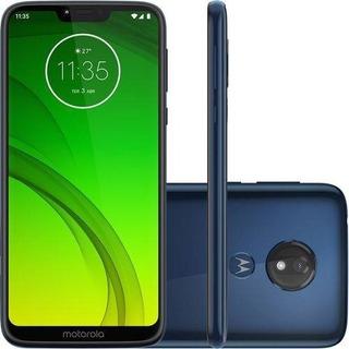 Smartphone Motorola Moto G7 Power 64gb Dual Chip Android Pie - 9.0 Tela 6.2 1.8 Ghz Octa-core 4g Câmera 12mp - Azul Nav