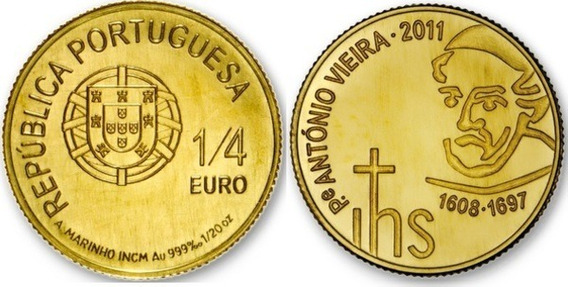 3 Moedas De Ouro 999 (24k) Maple Leaf, 1/4 Euro, 1/25 Crown