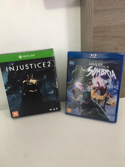 Jogo Xbox One Injustice 2 Com Blu Ray Liga Da Justiça