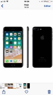 iPhone 7 Usado Mancha Na Tela Com Nota Fiscal Suporte Para C