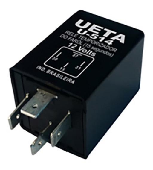 Rele Temporizador U514 12v 4 Terminais Com Suporte Universal