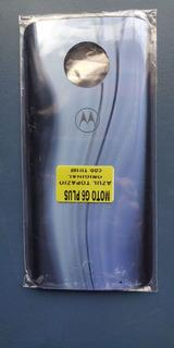 Tampa De Vidro Traseira Motorola Moto G6 Plus Azul Topázio