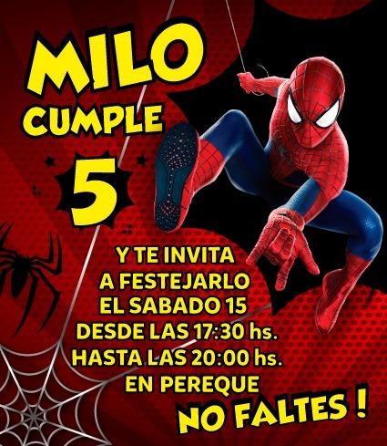 Tarjeta Digital Spiderman, Hombre Araña