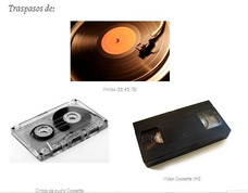 Traspasos De Vhs/vinilo/cassette, Serv. Tec. Pc Y Mucho +