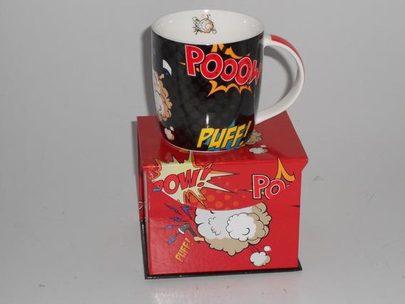 Caneca De Porcelana 320ml Puff Pow