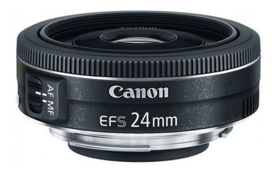 Lente Canon 24mm F/2.8 Stm Ef-s Pancake C/ Nfe