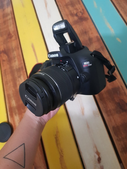 Câmera Fotográfica Semi Profissional Canon Rebel T100