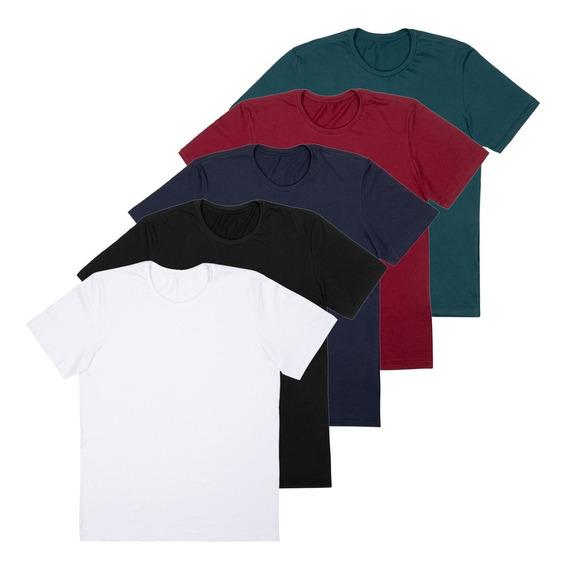 Kit 5 Camisetas Local Meia Malha 30.1 Premium 10217
