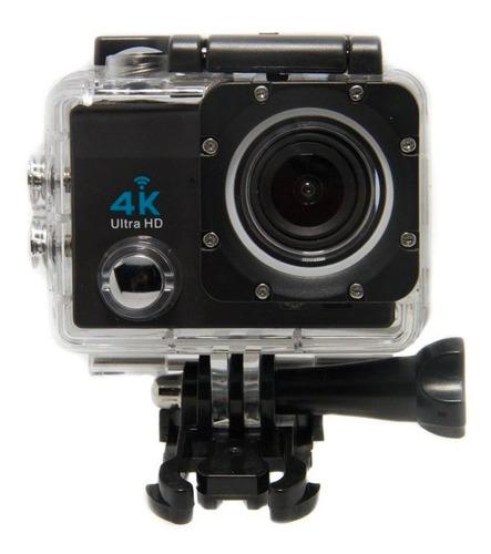 Câmera De Ação Sports Foto 4k Vídeo 1080p + Acessórios