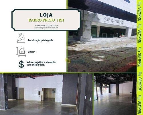 Imagem 1 de 16 de Loja Para Alugar, 322 M² E 02 Vagas - Barro Preto - Belo Horizonte/mg - Lo0011