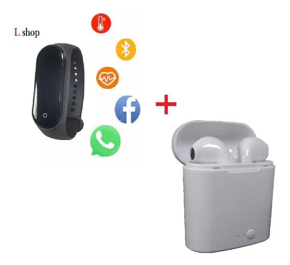 Relógio Digital Inteligente Unissex + Fone Bluetooth