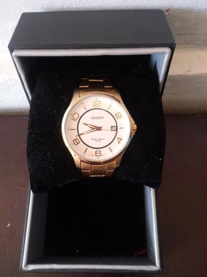 Relógio Banhado A Ouro Orient/ Resistente A Água 50m