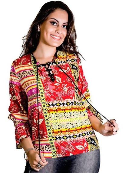 Blusa Feminina Estampada Colorida