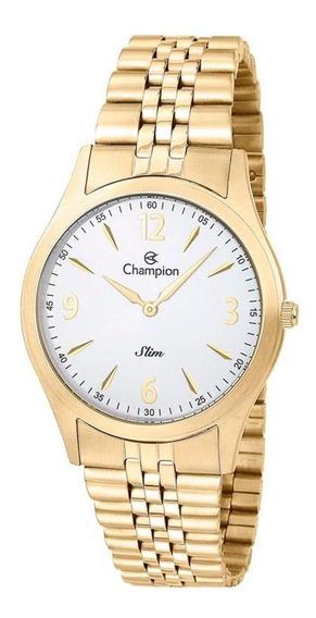 Relógio Champion Masculino Dourado Slim Ca21777h