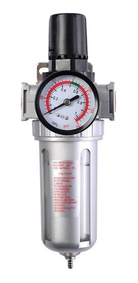 Filtro Regulador Separador Água Compressor Manômetro Dreno