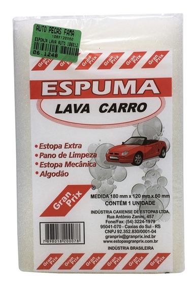Esponja Espuma Lava Carro Gran Prix 18cmx12cmx6cm