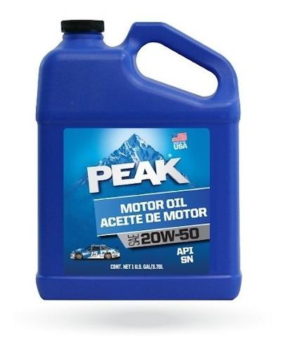 Imagen 1 de 2 de Peak Aceite De Motor 20w-50 Sn Galon
