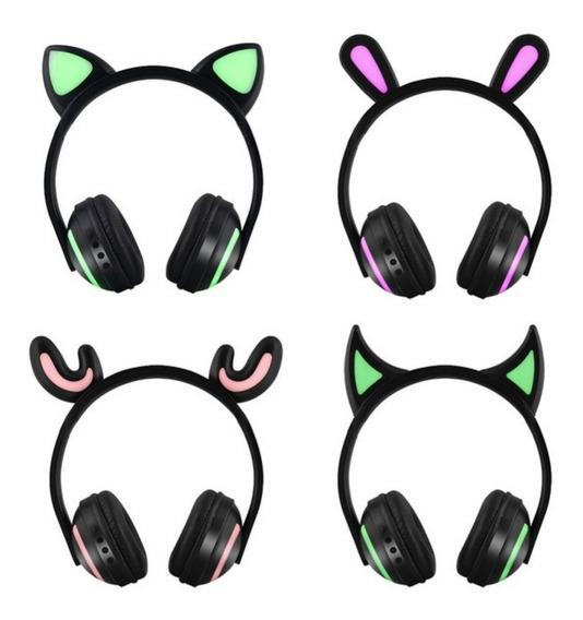 Fone De Ouvido Headphones Wireless Tema Muda De Cor