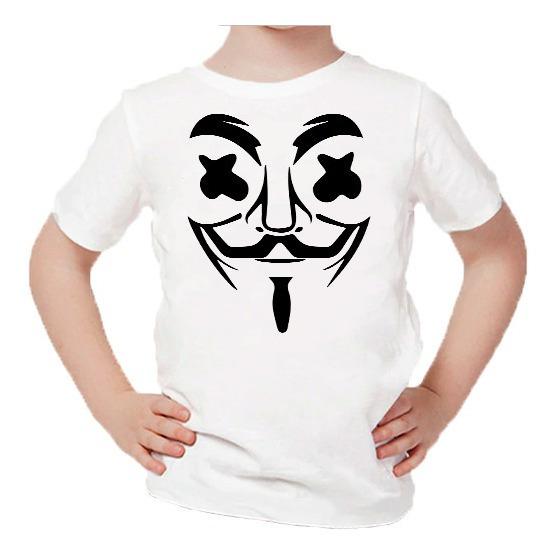 Playera Para Niños Estampado De Marshmello Anonymous #038