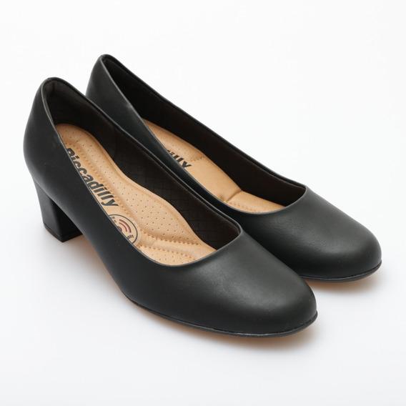 Zapato Piccadilly Stiletto Dama Pu Taco Cuadrado 5.5cm
