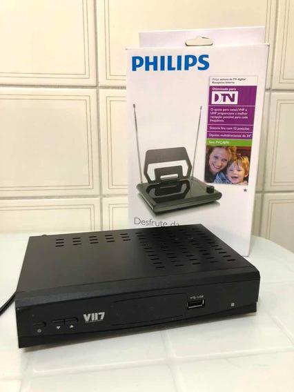 Conversor Digital De Tv + Antena Digital Interna