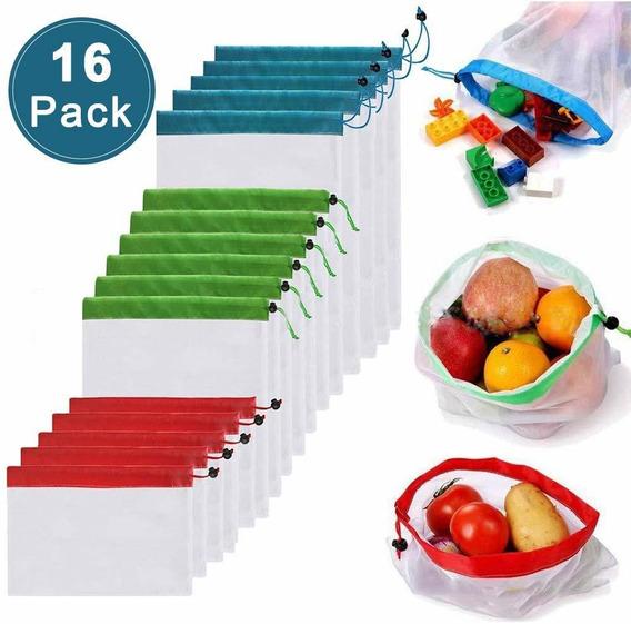 Bolsas Ecológicas Reutilizables Para Frutas Y Verduras 16 Ud